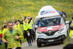 Catcher Car is seen during the Wings for Life World Run in Olten, Switzerland on May 7, 2017.